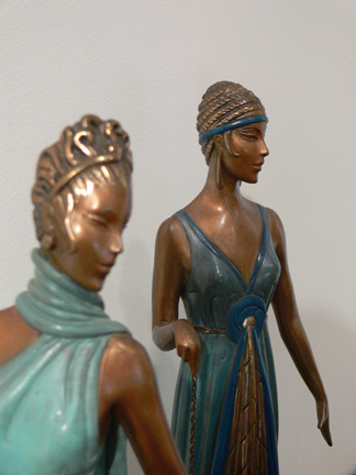 Erté Limited Edition Bronze: The Three Graces: View 4