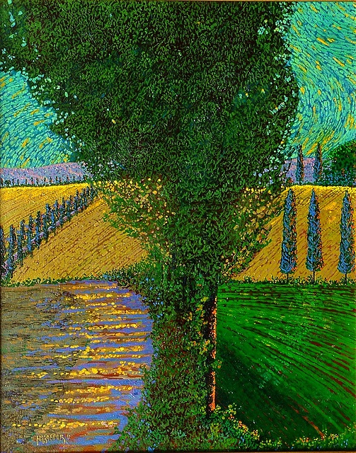 """TUSCAN PATH"" (THE PATH) with the artist"