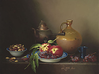 """BIRD, PEACHES, AND GRAPES"""