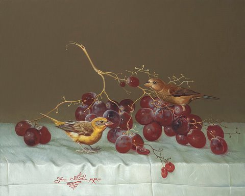 """BIRDS WITH GRAPES"""