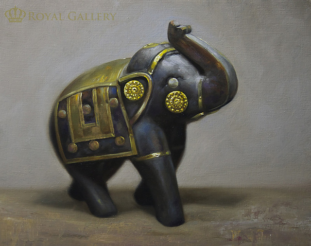 """AN ELEPHANT IN THE ROOM""(SOLD)"