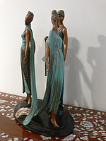 Erté Limited Edition Bronze: The Three Graces: View 2