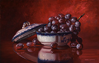 GRAPES IN BOWL (SOLD)